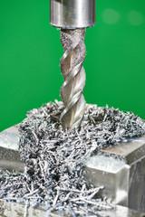 metal machining process by mill