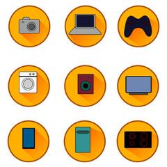 Icons appliances. Raster.
