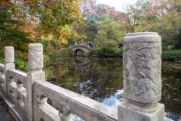 Chinesischer Garten mit Brücke
