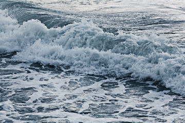texture waves sea storm gray foam