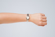 Hand with watch showing precise time - 72873681