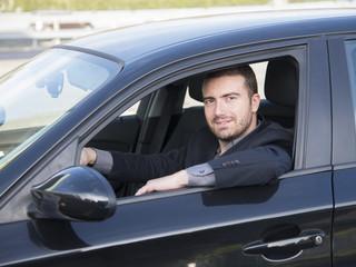 man car driving