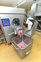 Maschine zur Hackfleischzubereitung - industrieller Fleischwolf