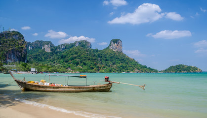 Tropical beach in Krabi province , Thailand