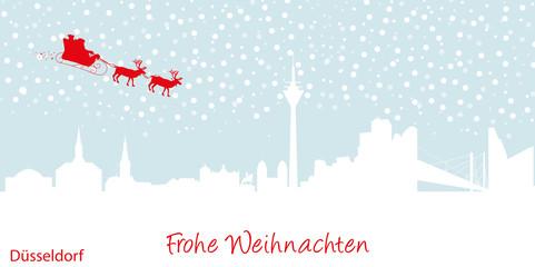 Weihnachtskarte Düsseldorf