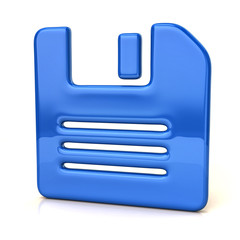 Blue floppy disk icon