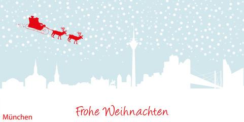 Weihnachtskarte München