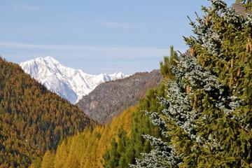 Scorcio sul Monte Bianco