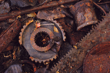 Corroded Debris and Fall