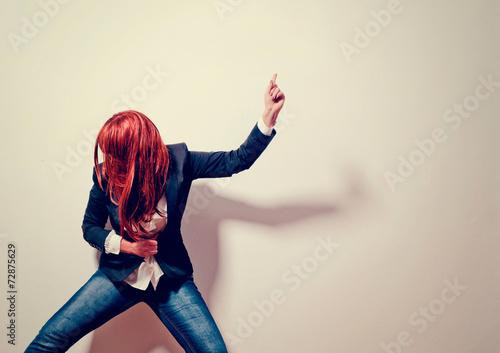 Leinwandbild Motiv sad businessgirl - business rocks 04_2