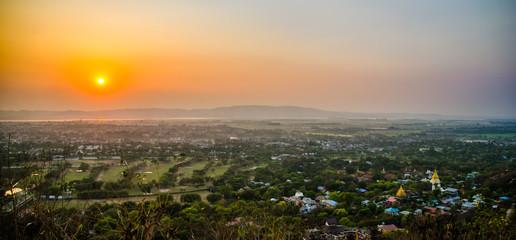 Mandalay Hill at Sunset