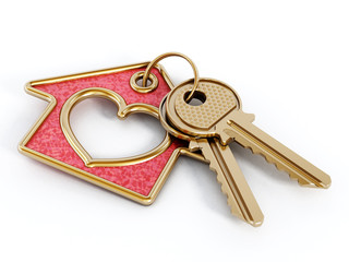 Keys and house pendant