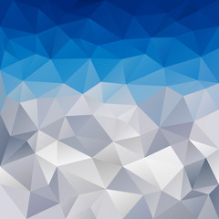 vector polygonal background triangular design in winter colors