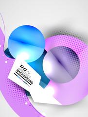 Abstract circles, hi-tech futuristic background