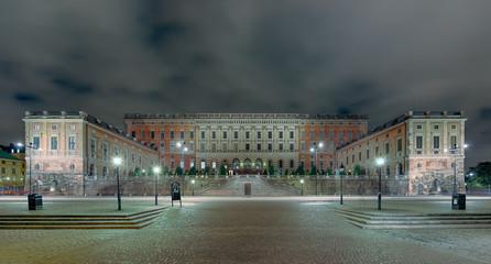 Königsschloss Stockholm beleuchtet