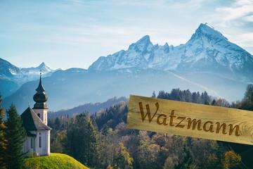 Berchtesgadener Land mit blick auf Watzmann