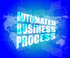 automated business process digital touch screen