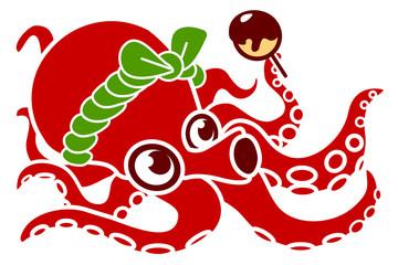 たこ焼き屋 蛸 イラスト