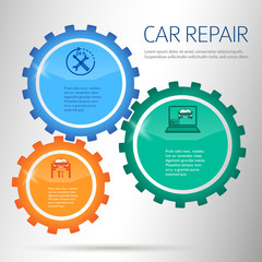 car-repair-infographics-gears-on-chalk-background