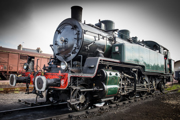 "Historic steam locomotive ""Pacific PLM 231 K 8"" of ""Paimpol-Pont"