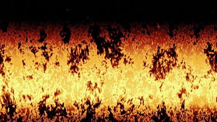 Burning fire generated seamless loop video