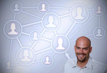 In sozialen Netzwerken vernetzt