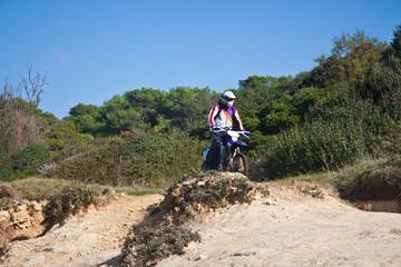 motocross through the dunes
