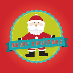 Merry christmas badge, sticker, banner