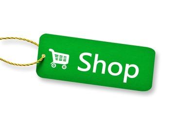 Shop - Etikett - Schild