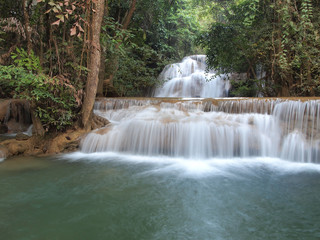Beautiful Waterfall in Srinakarin Dam National Park ,Thailand