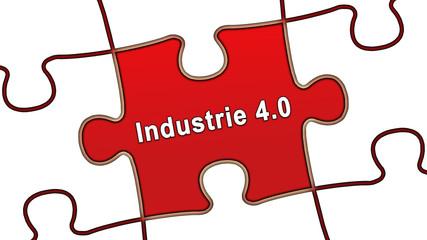 ptk48 PuzzleTeilGrafik ptk-v11 - industrie 4 0 - rot g2505