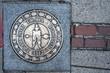 Boston Freedom Trail sign, Massachusetts, USA