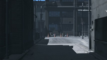Dark Alley Dolly Zoom