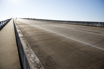 Three lane highway Florida USA