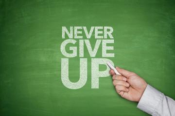 Never give up blackboard