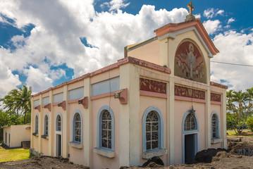 "Church ""Notre dame des laves"" in Piton Sainte Rose"