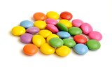 Fototapety Colored smarties on white background