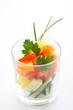 Fresh salad in glass
