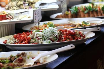 Salads at buffet