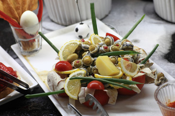 Stuffed olives with fish