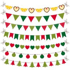 Christmas bunting and decoration set