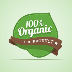 Organic product label. Vector illustration.