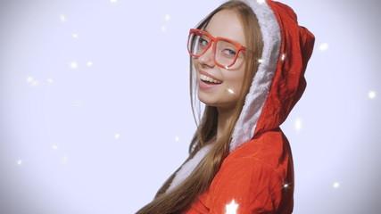 Girl in suit Snow Maiden