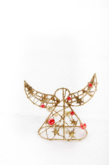 angel with red balls and gold stars