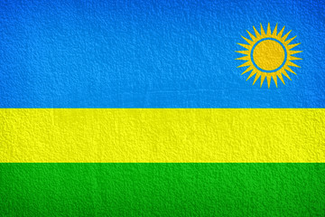 Grunge flag of Rwanda