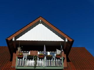 Balkon mit Blumenkästen in Oerlinghausen am Teutoburger Wald