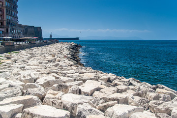 Sea coast in Naples
