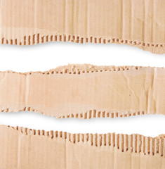 Three Pieces Of Corrugated Cardboard