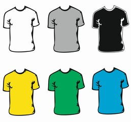 T-Shirts 6 color pack