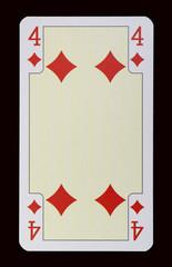 Spielkarten der Ladys - Karo Vier